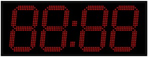 Офисные часы 270 мм красные светодиоды