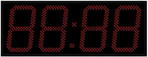 Уличные электронные часы 240 мм красные светодиоды