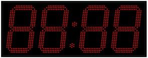 Уличные электронные часы 310 мм красные