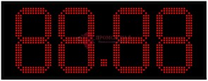 Табло цен АЗС 270 мм красные светодиоды