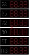 Универсальное табло АЗС 310 мм статика красные светодиоды